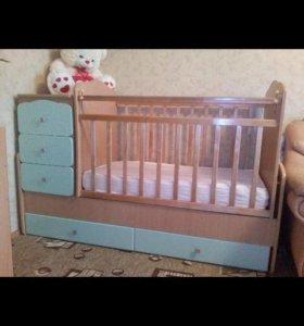 Детская кровать трансформер+матрас+подарки!