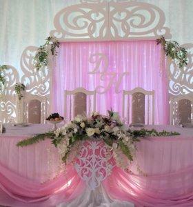 Оформление залов на свадьбу и корпоративы...