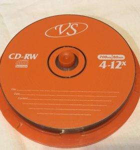 10 новых дисков CD-RW