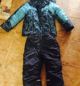 Пакет зимней верхней одежды для мальчика 128 р.