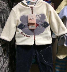 Новый велюровый костюм для детей