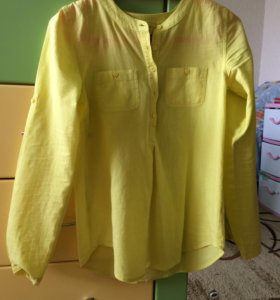 Желтая рубашка из Манго