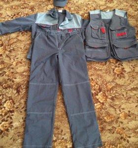 Спец одежда летняя куртка жилетка брюки и кепка