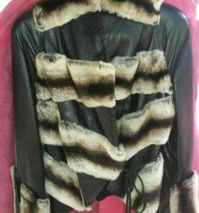 Куртка нат.кожа и мех
