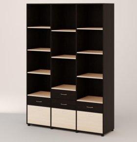 Стеллаж-шкаф  с  ящиками