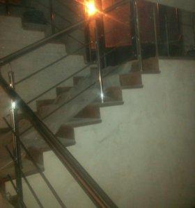 Лестничное ограждения.крыши под ключ.ступени дерев