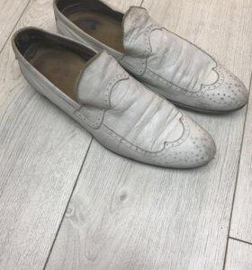 Туфли белая кожа