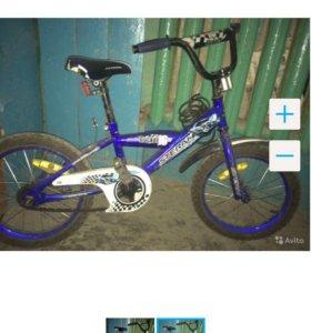 Велосипед(6 лет)диаметр колёс-38см