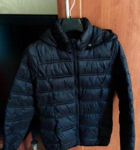 Курточка пуховик тонкий модный