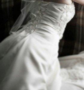 Счастливое свадебное платье 44-46 р.