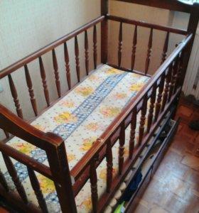 Дет кровать с ящиком + аксессуары