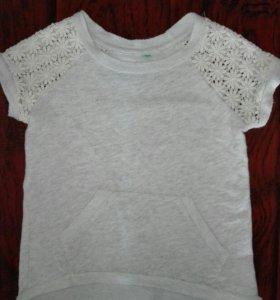 Платье-туника с кружевными рукавами от 1-1,5 лет