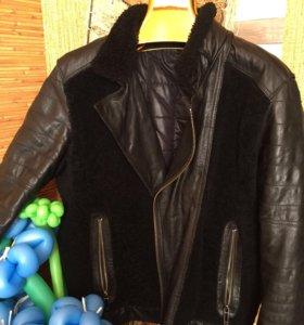 Шуба мутоновая куртка из овчины с натуральной коже