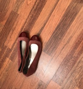 Новые кожаные балетки