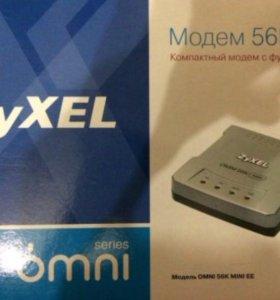 Модем zyxel omni 56K, совсем новый