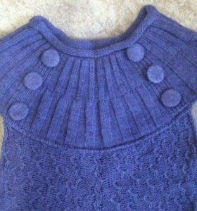 Новое платье 46-48 р весна-осень. Машинная вязка.