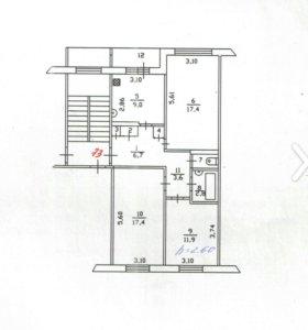 Продажа 3-хкомнатной квартиры