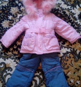 Куртка с полукомбенизоном зима