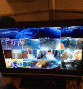 Видеонаблюдение на 16 камер
