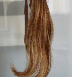 135 прядей натуральных волос для наращивания.