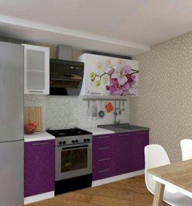 Кухня с фотопечатью Орхидея 1.6м