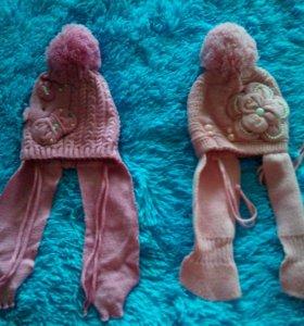 Абсолютно новые детские зимне- осенние шапочки