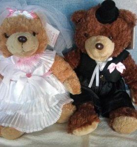 Мишки свадебные новые разные