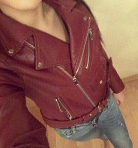Кожаная куртка косуха новая