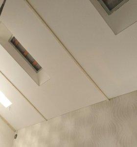 Тканевые натяжные потолки.