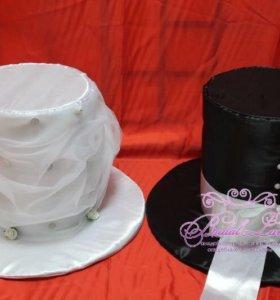 Украшение машин на свадьбу! Парные шляпы