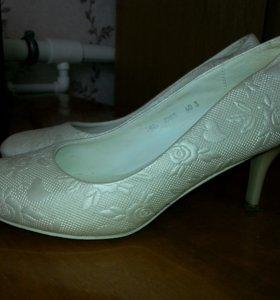 Свадебные туфли, айвери,узкую ножку