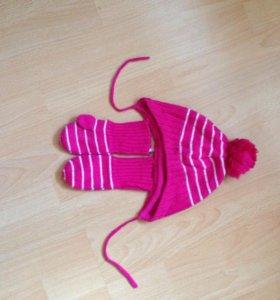 Комплект шапочка +рукавички