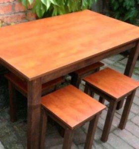 Стол и скамейки от производителя