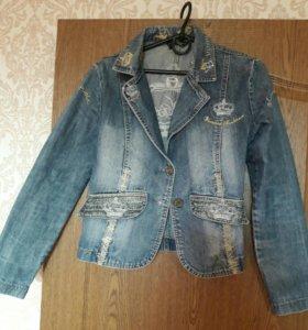Пиджак джинсовый 44