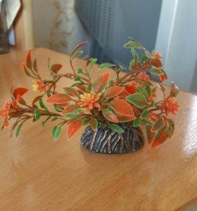 Искуственное растение для аквариума