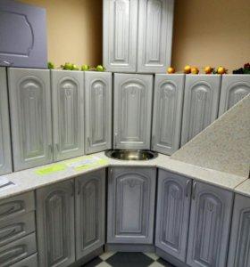 Набор шкафов для кухни с мойкой, сушкой
