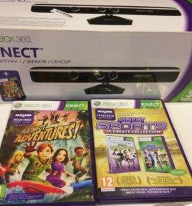 Контролер Kinect для Xbox360 + 3 диска