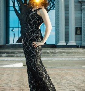 Шикарное гепюровое платье