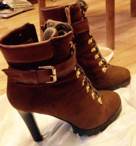 Полусапожки ботинки сапоги женские