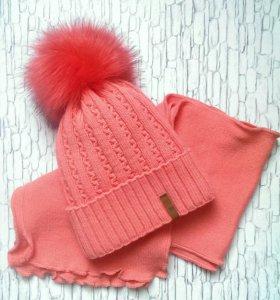Новые шапка + шарф