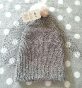 Asos, новая шапка с вуаль и шапка бини