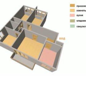 4 х комнатная квартира в 1 микр-к д 9б второй этаж