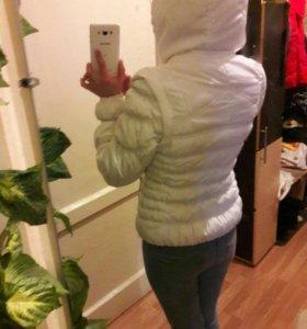 Белая куртка трансформер