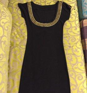 Платье вечернее черное стрейч 42-44 размер.