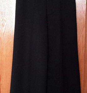 Широкие черные брюки-юбка р.44-46