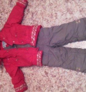 Зимний комплект(куртка+комбинезон)