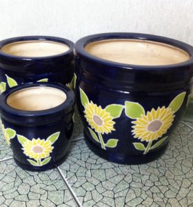 Цветочные горшки (набор 3 шт.)