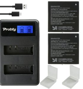 XIAOMI YI 4К аккумулятор 2шт.+зарядное устройство