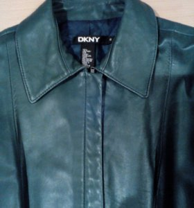 Куртка женская DKNY кожа 44-46 зеленая