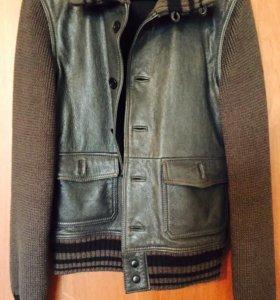 Кожаная куртка DKNY JEANS